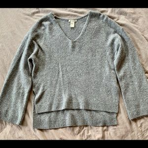 Grey High-Low Sweater